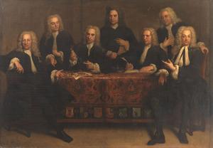 Groepsportret van zeven overlieden van het Chirurgijnsgilde