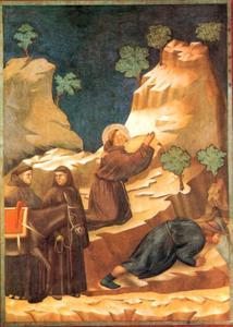 St. Franciscus en het wonder van de dorstige man