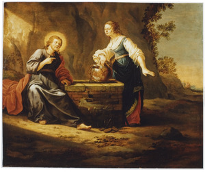 Christus en de Samaritaanse vrouw bij Jacobs bron