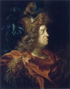 Portret van keurvorst Johann Wilhelm van de Palts als Mars