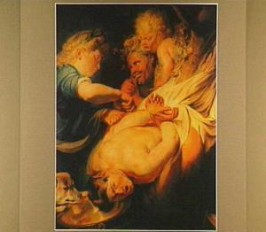 Marsyas door Apollo als straf levend gevild (Ovidius, Met. VI, 382-397)