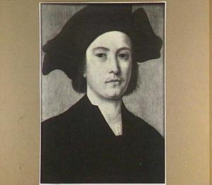 Portret van een man met een donkere baret