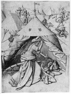 Jaël doodt Sisera met een tentpin (Richters 4:21)
