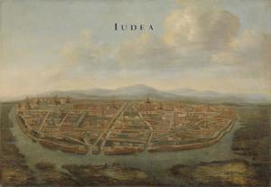 Gezicht op Judea, de oude hoofdstad van Siam