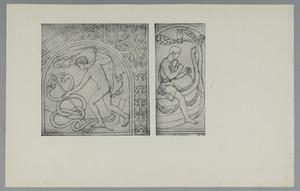 Mercurius als vredestichter en Glaucus die het schip Argos bouwt