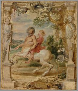 Achilles opgevoed door de centaur Chiron