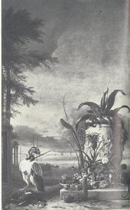 Exotische dieren en planten aan een meer
