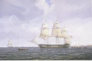 Fregat Freia buiten Kopenhagen