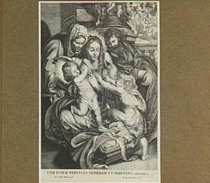 Heilige familie met Elizabeth, Johannes de Doper en een duif