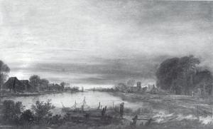 Landschap met een kanaal