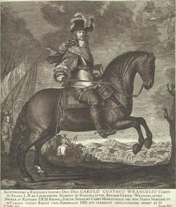 Ruiterportret van Carl Gustaf Wrangel (1613-1676)