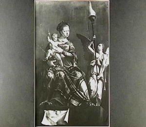 De Madonna met Kind (linkergedeelte van het altaarstuk 'De H. Lucas schildert de Madonna')