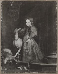 Portret van een onbekend kind met jachtbuit