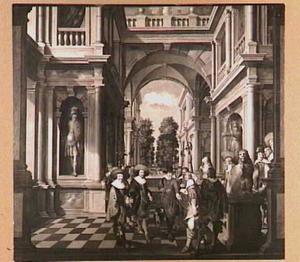 Galerij met Floris II, vrijheer van Pallandt, graaf van Culemborg  (1578-1639), Frederick V, keurvorst van de Palts, ('de Winterkoning') (1596-1632) en prins Maurits van Oranje-Nassau (1567-1625)