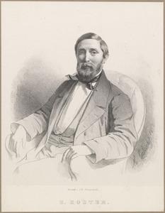 Portret van Everhardus Koster (1817-1892)
