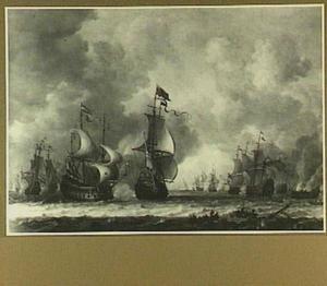 Zeeslag tussen Hollandse en Engelse oorlogsschepen