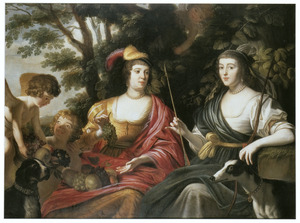 Dubbelportret van Amalia van Solms en Charlotte de la Trémoille als Ceres en Diana