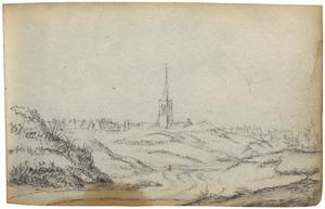 Duinlandschap, in de achtergrond Zandvoort