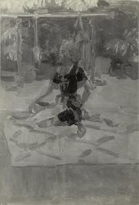 Zittende Javaanse danser
