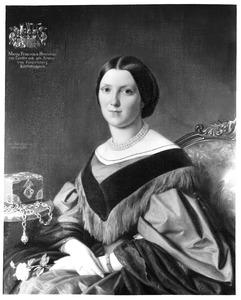 Portret van Franziska von Furstenberg -Kortlinghausen (1834-1913)