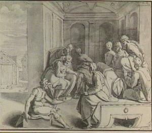 Boaz onderhandelt met de oudsten om Ruth tot vrouw te kunnen nemen (Ruth 4)