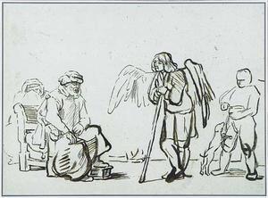 De engel in het huis van Tobias (Tobias 5:12-23)