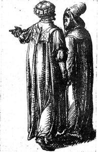 Twee figuren uit het Oude testament (?)