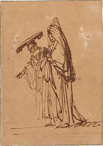 Ruth en Naomi (recto)