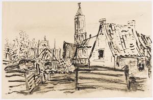 Dorp in Het Gooi met kerktoren