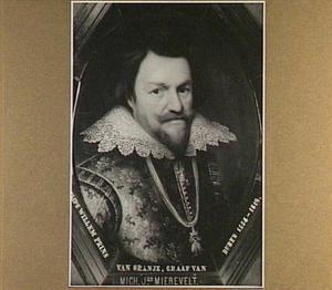 Portret van prins Philips Willem, Prins van Oranje (1554-1618) oudste zoon van Willem I