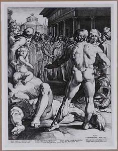 De strijd tussen Oddysseus en Irus
