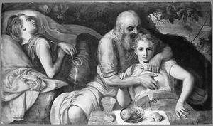 Lot heeft gemeenschap zijn beide dochters (Genesis 19:30-38)