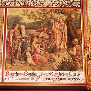 Bonifatius predikt het Christendom aan de Friezen