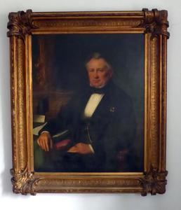 Portret van Louis Mattieu Frederic Plate (1804-1898)