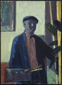 Zelfportret voor schildersezel