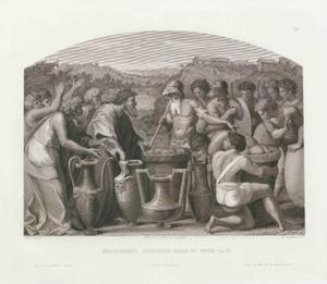 De ontmoeting tussen Abram [Abraham] en Melchisedek (Genesis 14:18-20)
