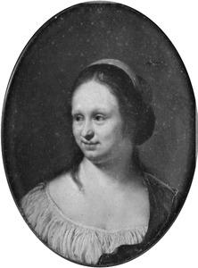 Portret van een vrouw genaamd Cunera (Kniertje) van de Cock (1630-1681)