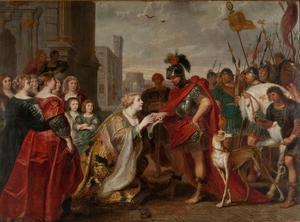 De ontmoeting van Cleopatra en Marcus Antonius