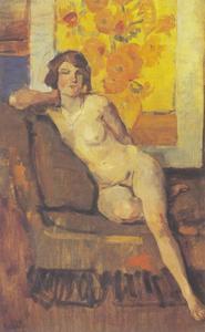 Naakt voor van Gogh's Zonnebloemen