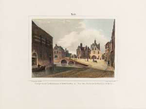 Gezicht op de Rotterdammer en Ketel Poorten te Delft