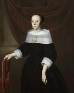Portret van een vrouw, waarschijnlijk Elisabeth van Dobbe (....-1667)