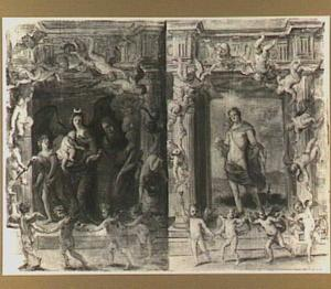 De godin Diana: allegorie van de nacht en Phoebus Apollo: allegorie van de dag