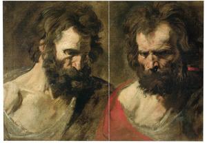 Twee studiekoppen van apostels