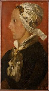 Portret van Aaltje Spaander-Kout (1856-1921)