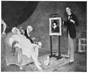 Het bekijken van een schilderij van Rembrandt