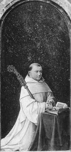 Robrecht de Clercq, tweeëndertigste abt van de cisterciënserabdij Ter Duinen (1515-1557) (Diptiek van Christiaan de Hondt)