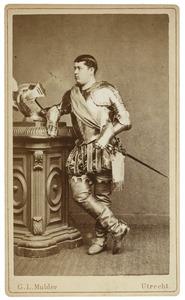 Portret van Willem Eliza Rijnbende (1860-1886) als Senechal van Henegouwen