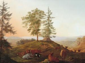 Zomerlandschap met vee