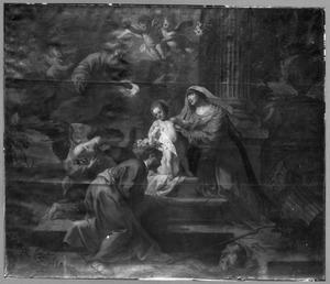 De kroning van de H. Jozef door het Jezuskind