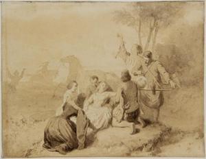 Maria van Bourgondië valt van haar paard